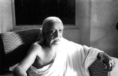 Sri Aurobindo in his roon