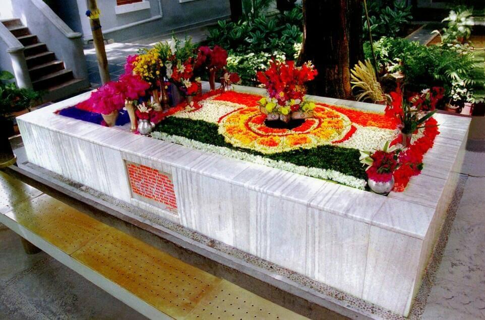 Samadhi of Sri Aurobindo and The Mother at Sri Aurobindo Ashram Pondicherry
