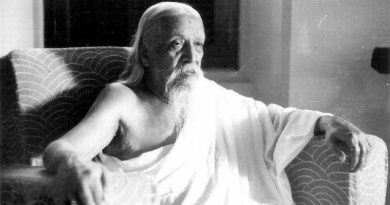 Sri Aurobindo photographed in his room