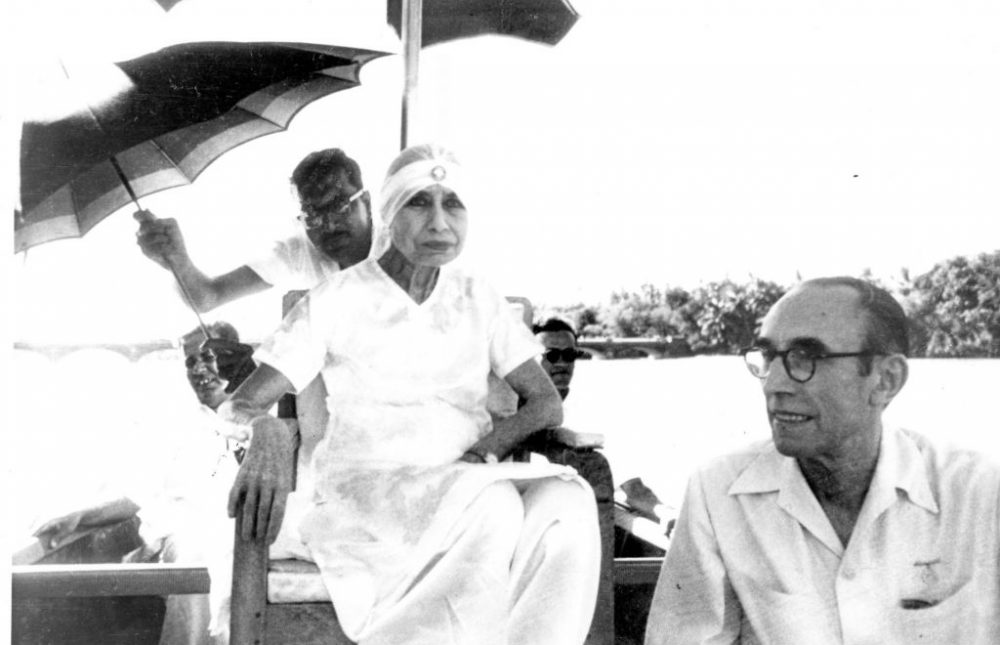 The Mother of Sri Aurobindo Ashram with Pavitra