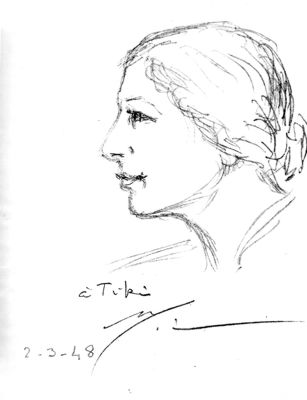 Sketch by The Mother of Sri Aurobindo Ashram