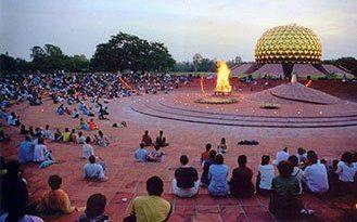 Collective Meditation at Matrimandir , Auroville