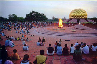 Collective Meditation at Matrimandir , Auroville