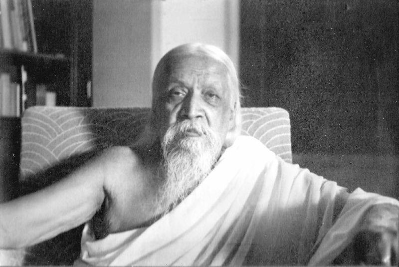 Mahayogi Sri Aurobindo in his own room