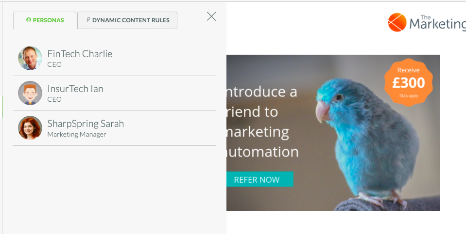 Dynamic Content Landing Pages | CRM & Marketing Automation
