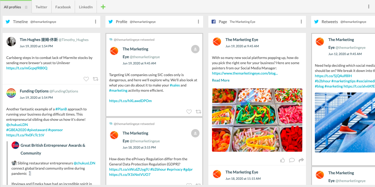 Social media all in one place | CRM & Marketing Automation