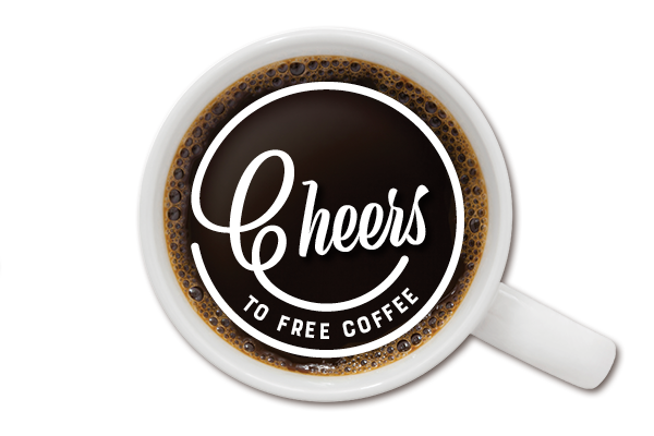 Cheers to Free Coffee