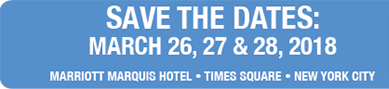 Save the dates March 26, 27, 28, 2017, AEC 2018 at Marrriott Marquis Hotel, Times Square, New York City