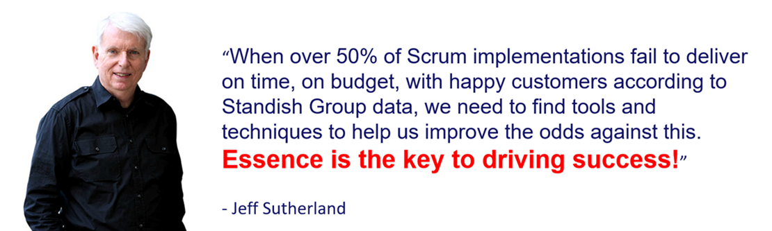 Quote from Jeff Sutherland, co-inventor of Scrum