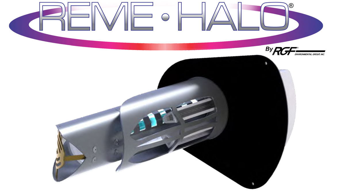 The REME HALO® by RGF® is the next generation of IAQ technology. RGF® has redesigned its REME HVAC unit with higher Ionized Hydro-Peroxide Output, which provides faster kill rates for microbes in the air as well as on surfaces. Also, this higher output drops more particulates from the air, bringing relief to those who suffer from allergies and other respiratory issues.