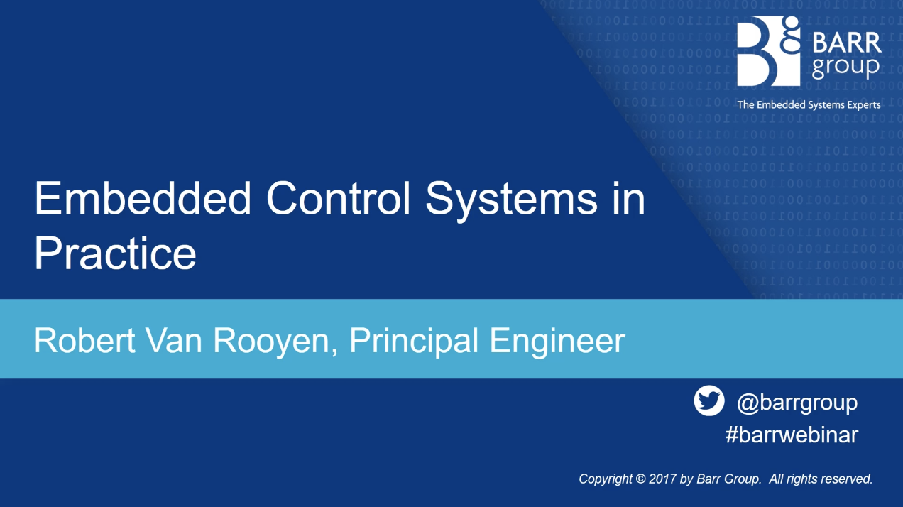 Embedded Control Systems in Practice