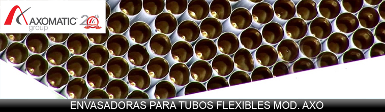 cabecera Axomatic envasadoras de tubos flexibles