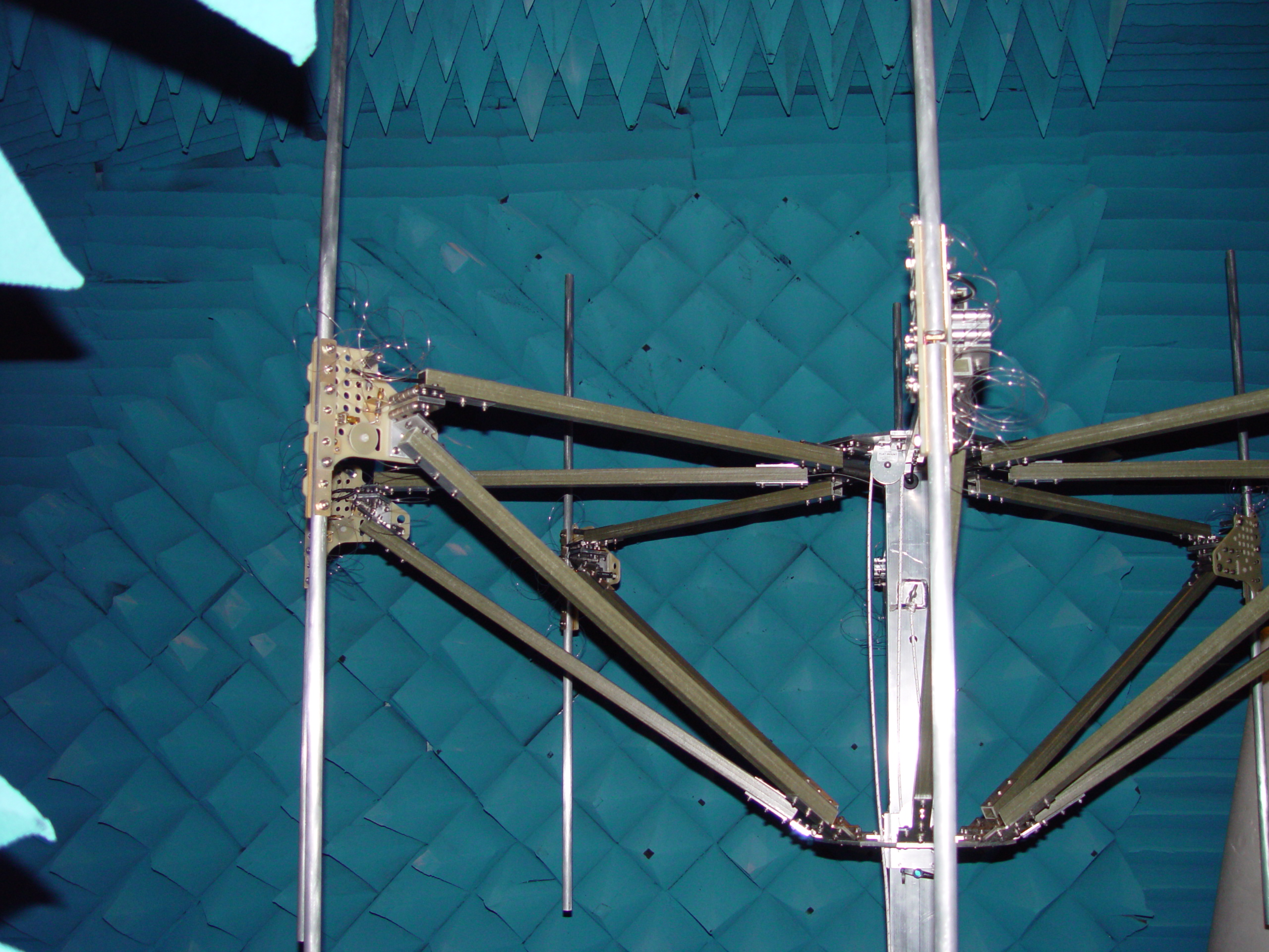 Mechanical Design: The Antenna, Awaiting Testing in Our SNF Chamber  | Antenna Design