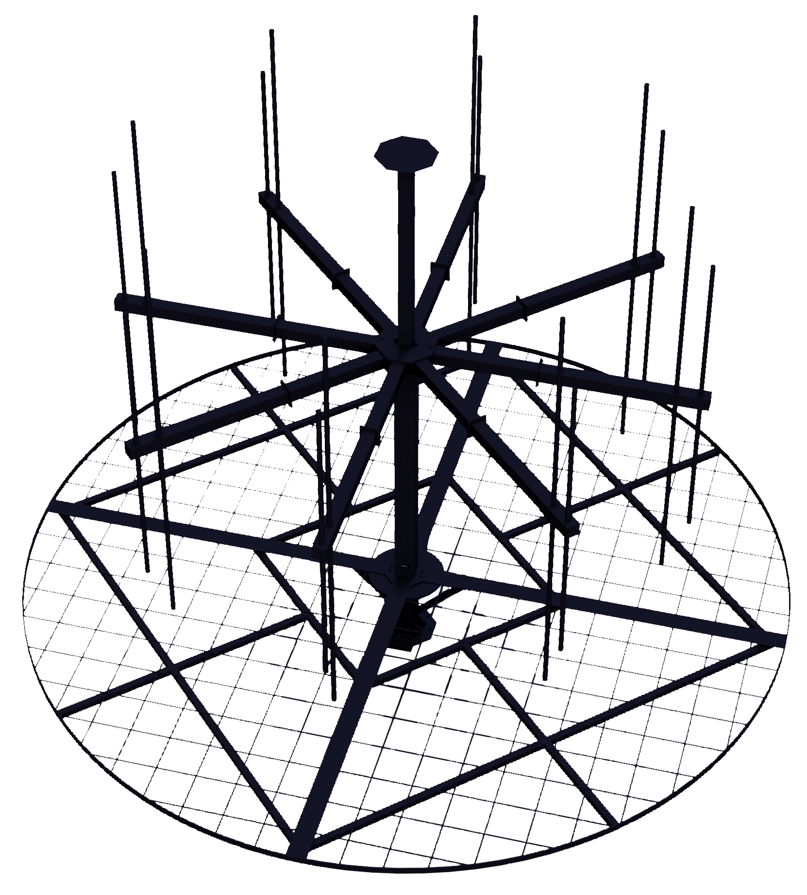 Mechanical Antenna Design: 2-Dimensional Rendering