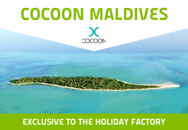 Cocoon Maldives Aerial View - Exclusive to The Holiday Factory
