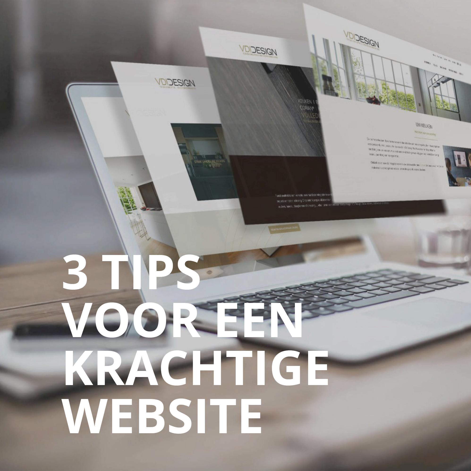 3 tips voor een krachtige website