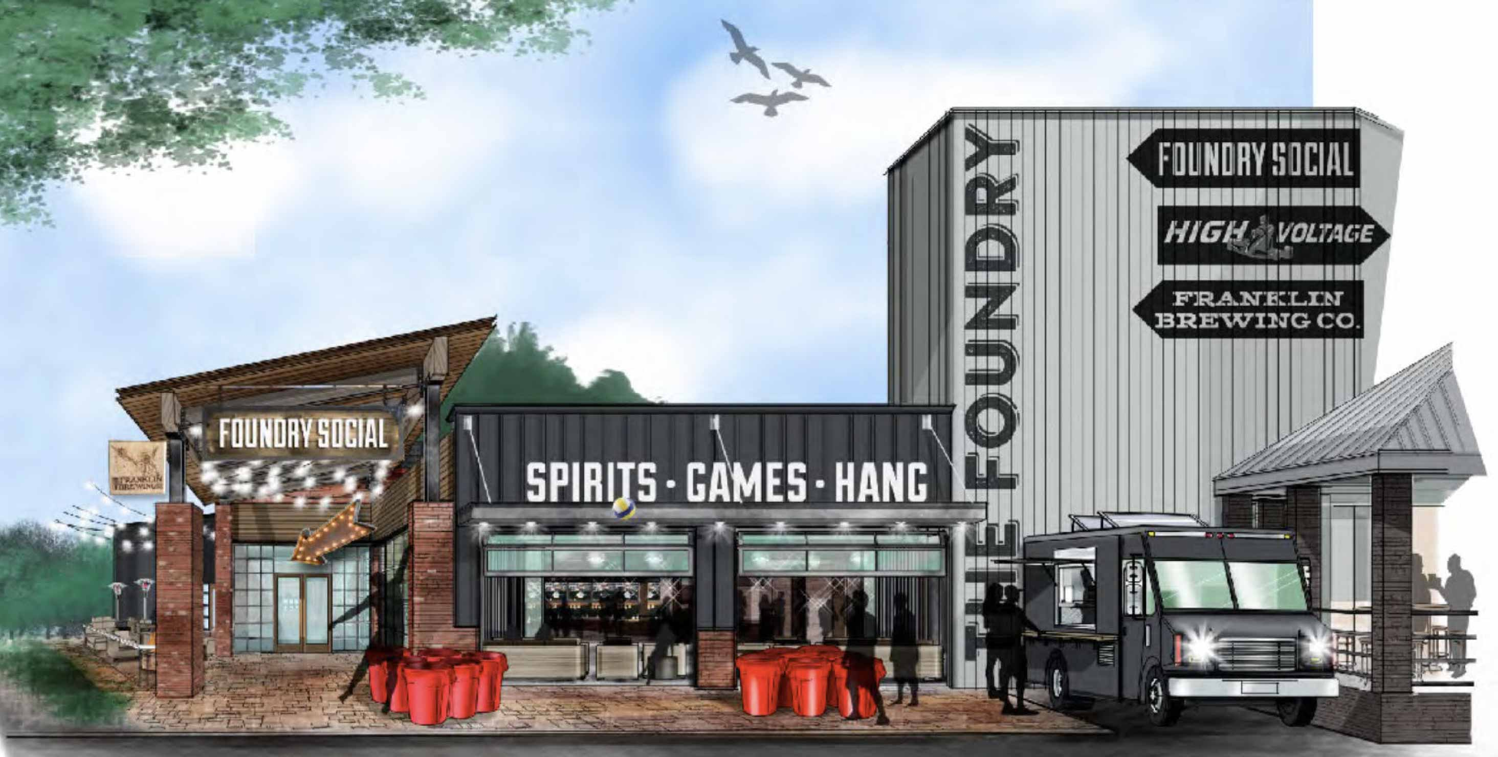 Foundry Social Exterior Architect Rendering