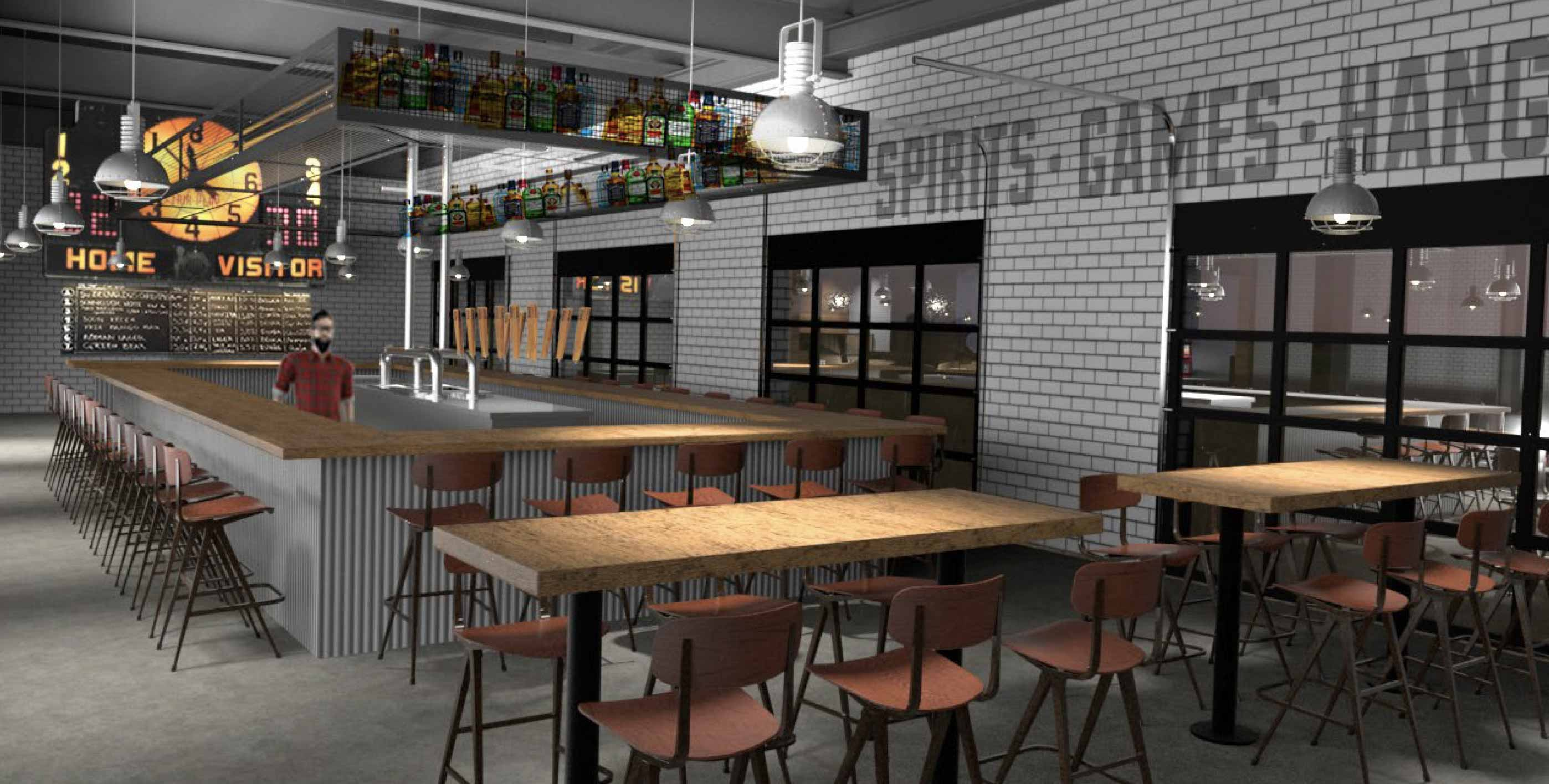 Foundry Social Interior Architect Rendering