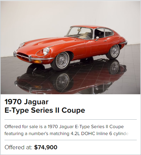 1970 Jaguar E-Type Series II Coupe for sale