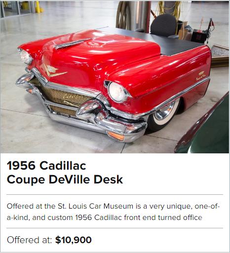1956 Cadillac Coupe DeVille Desk for sale