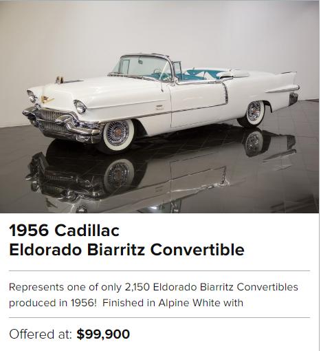 1956 Cadillac Eldorado Biarritz Convertible for sale