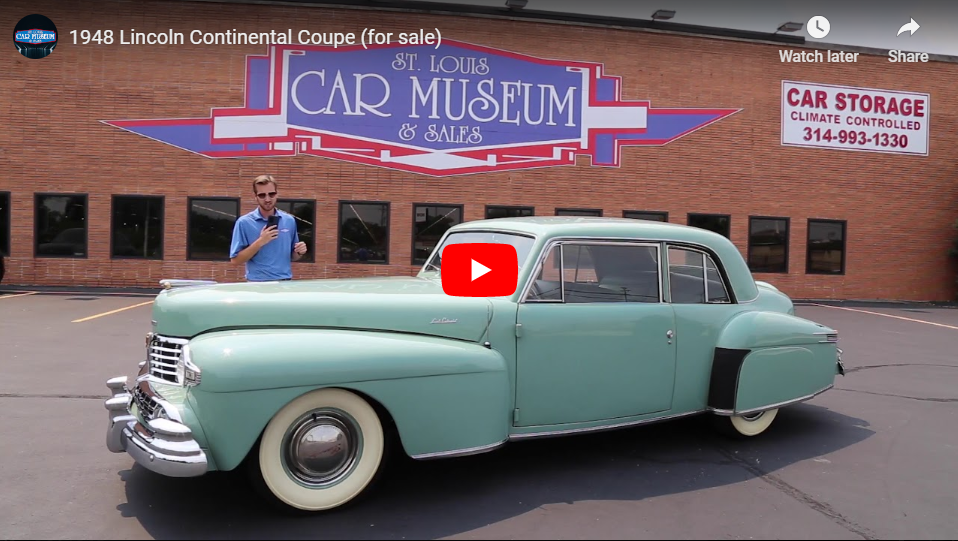 1948 Lincoln Continental Coupe Youtube Video