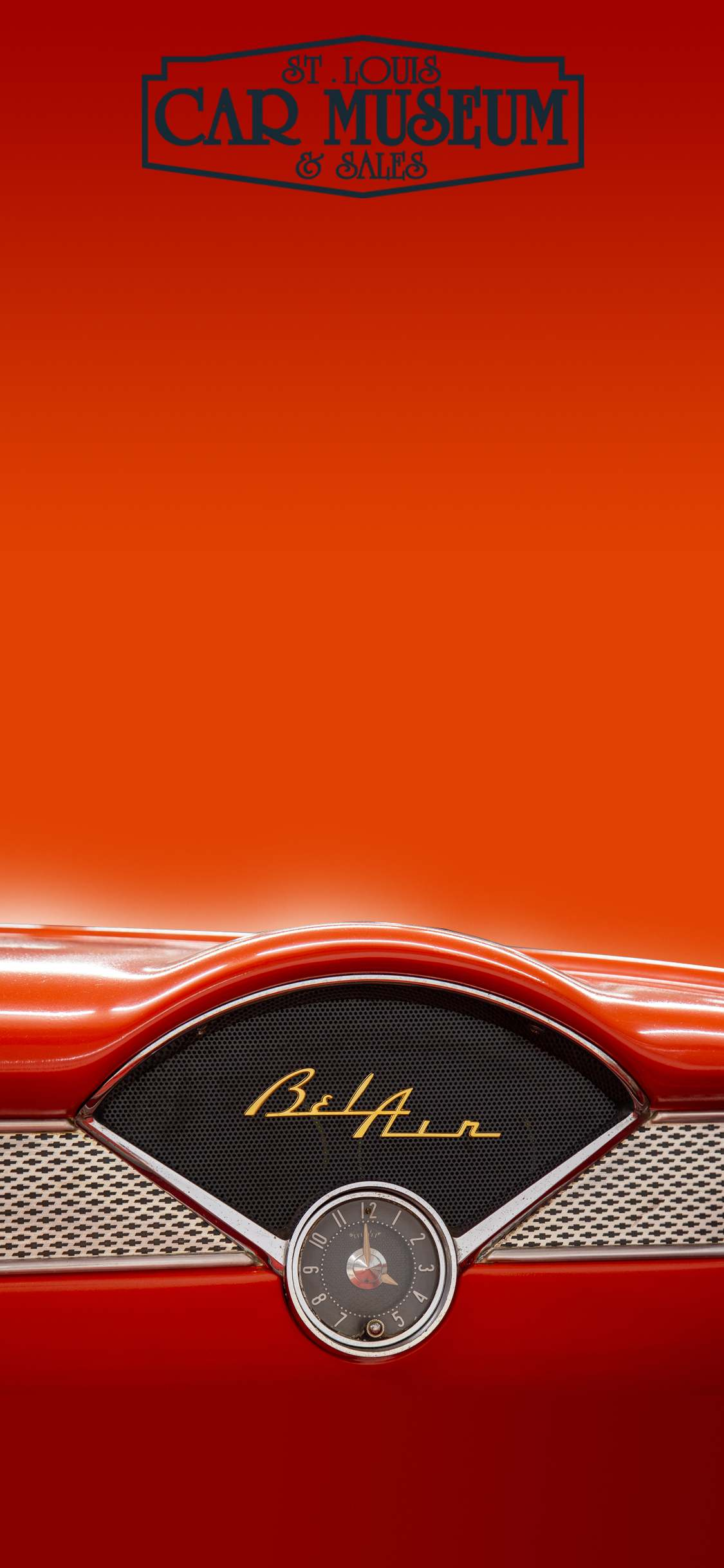1955 Chevrolet Bel Air Car Phone Background