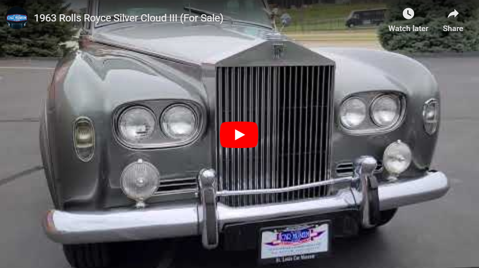 1963 Rolls-Royce Silver Cloud III Saloon Youtube Video