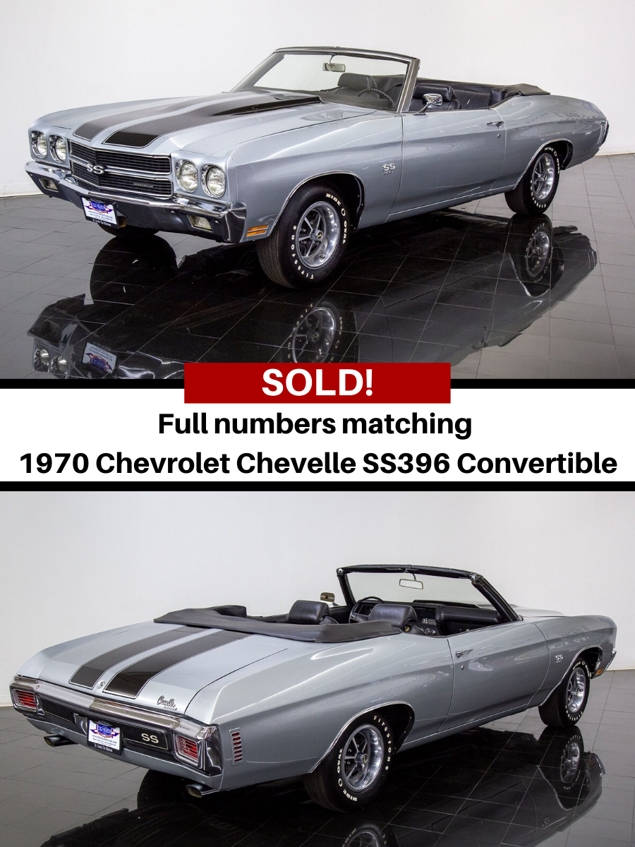1970 Chevrolet Chevelle SS396 Convertible sold