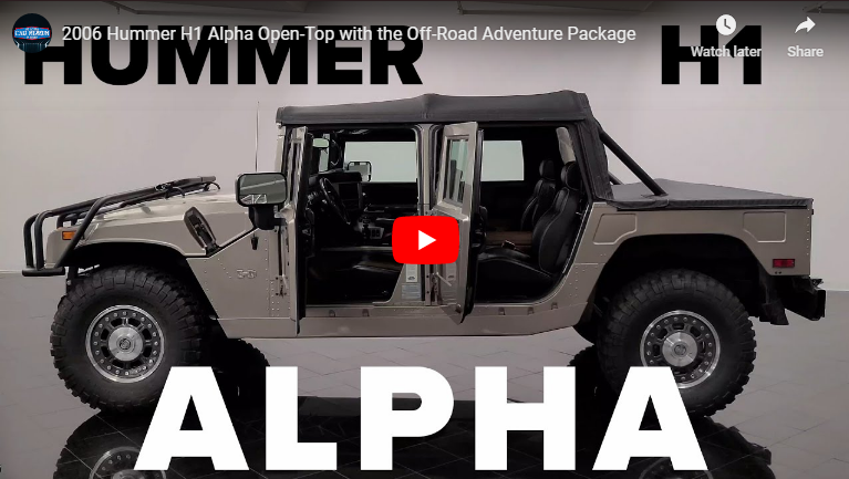 New video up now featuring a beautifully kept, final edition Hummer H1 Alpha Convertible