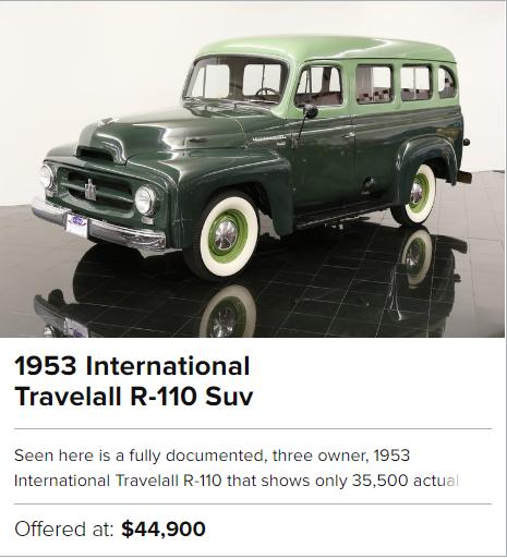 1953 International Travelall R-110 Suv for sale