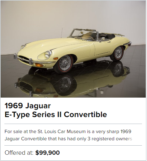 1969 Jaguar E-Type Series II Convertible for sale