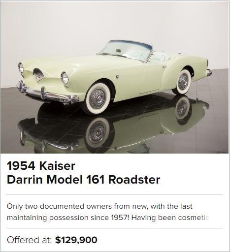 1954 Kaiser Darrin Model 161 Roadster for sale
