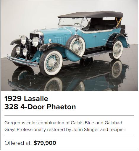 1929 Lasalle 328 4-Door Phaeton for sale