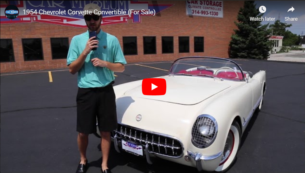 1954 Chevrolet Corvette Convertible Youtube Video