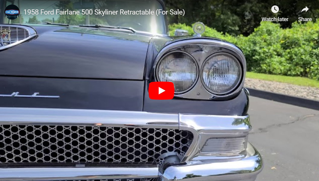 1958 Ford Fairlane 500 Skyliner Retractable youtube