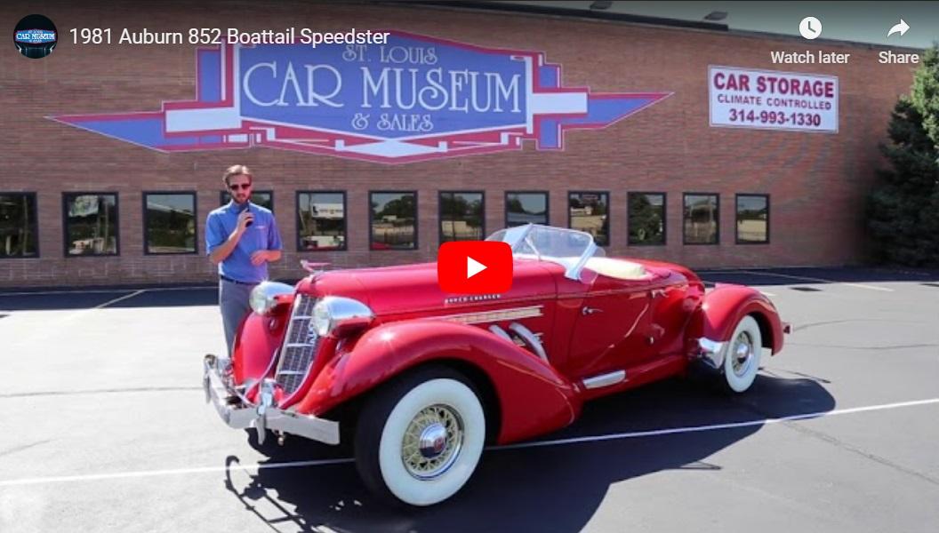 Auburn Speedster Youtube Video