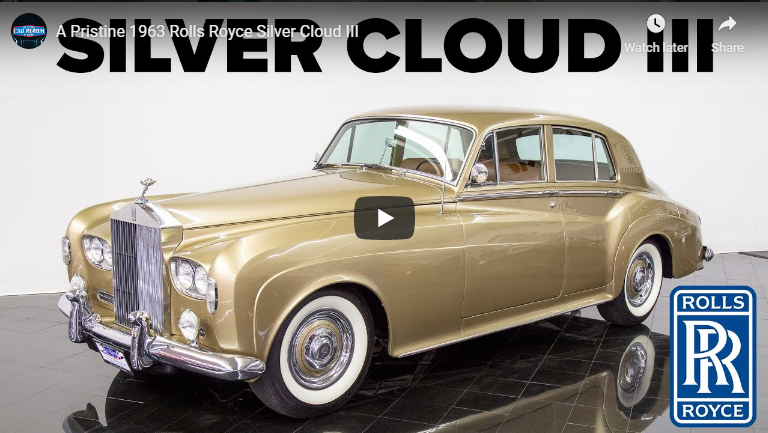 NEW VIDEO OF A A Pristine 1963 Rolls Royce Silver Cloud III