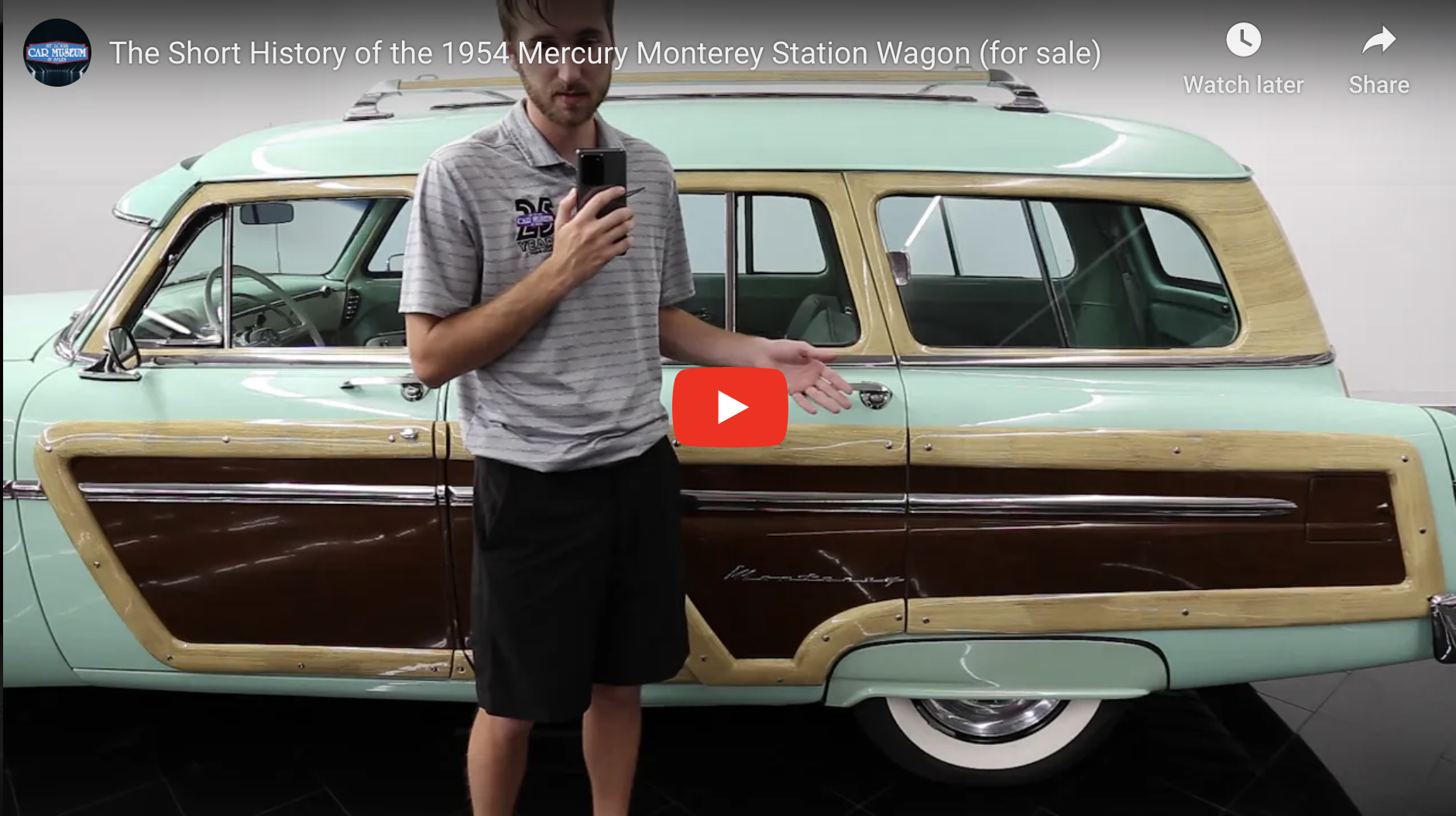 The Short History of the 1954 Mercury Monterey Station Wagon (for sale)
