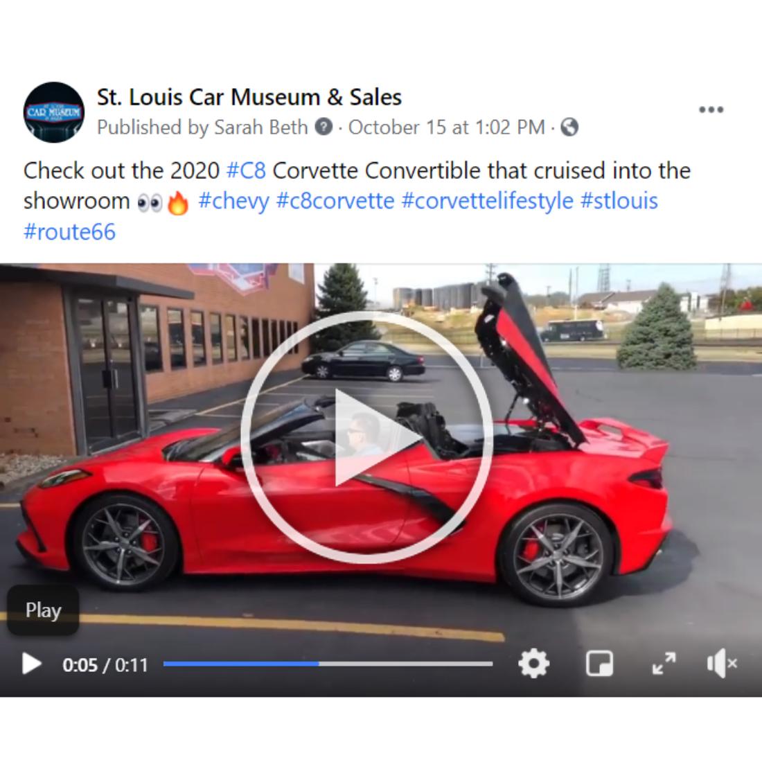 St. Louis Car Museum Car 2020 corvette