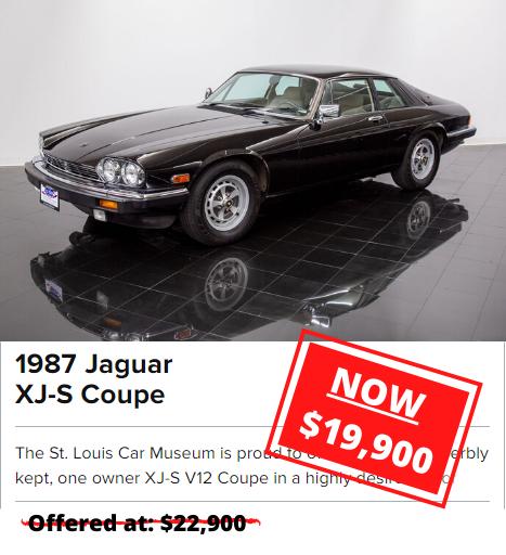 1987 Jaguar XJ-S Coupe price drop