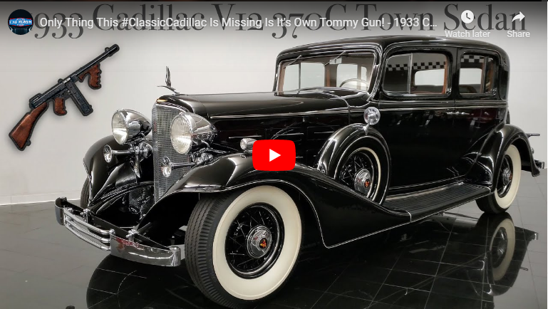 NEW VIDEO OF 1933 cadillac v12 370c