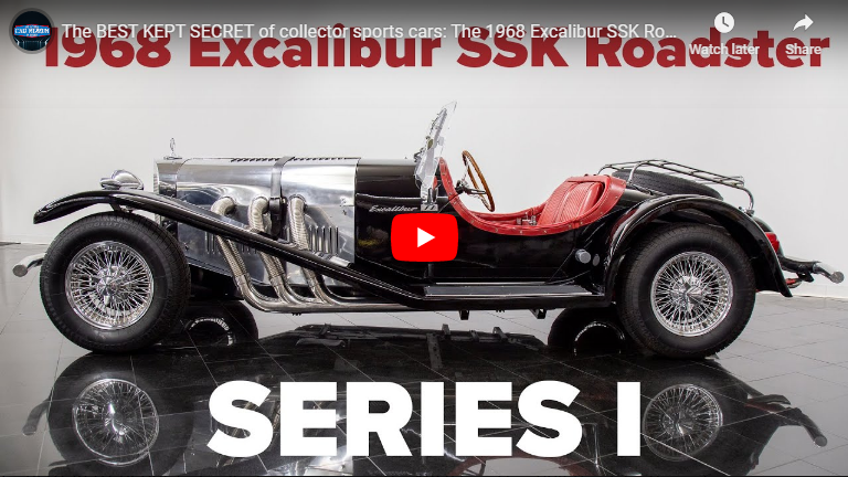 NEW VIDEO OF 1968 Excalibur SSK Roadster Series I