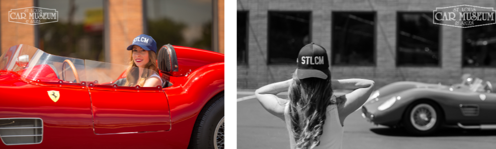 Picture of St. Louis Car Museum Hat in a Ferrari Dino