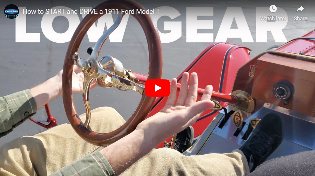 How to START and DRIVE a 1911 Ford Model T youtube video