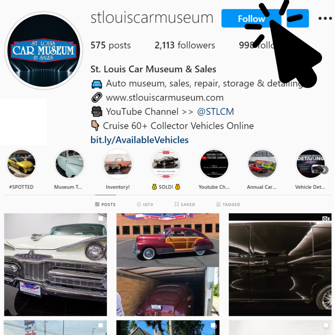 St. Louis Car Museum Instagram