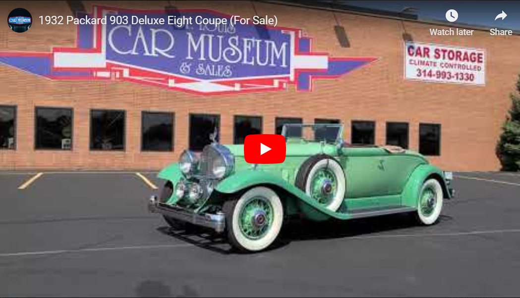 1932 Packard 903 Deluxe Eight 2/4 Coupe Roadster Youtube Video