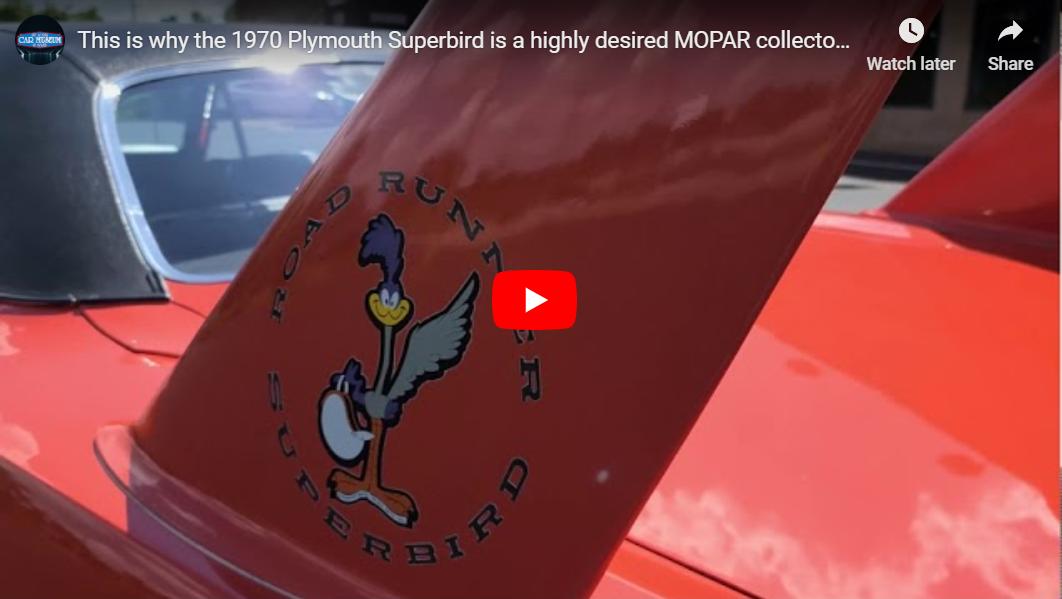 1970 Plymouth Superbird Youtube Video