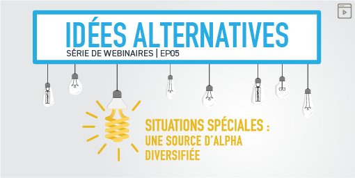 Link to webinar on Alternative Ideas: Special Situations : A Diversified Source of Alpha