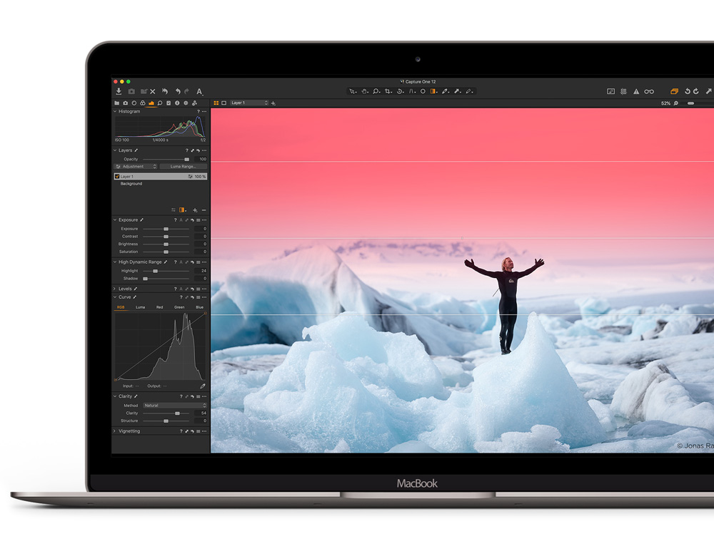 Capture One software and Macbook